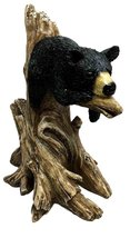 Lazy Black Bear Cub Sleeping On Tree Branch Sculpture Statue Figurine - $29.99