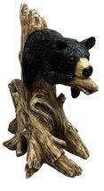 LAZY BLACK BEAR CUB SLEEPING ON TREE BRANCH SCULPTURE STATUE FIGURINE - $24.74