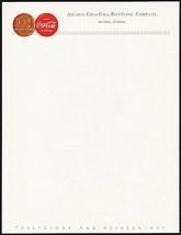 Vintage letterhead COCA COLA 50th Anniversary Arcadia Florida unused n-mint+ - $9.99