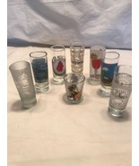 Lot of 8 Shot Glasses ~ 8 states ~ Souvenior ~ Collectable - $23.28