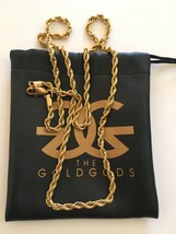 """The Gold Gods 18K Gold Plated 2.5MM Rope Chain 28"""" - $79.95"""