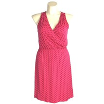 NEW Large Dress Coral Navy Blue Stencil Wrap Top Keyhole Back Comfy OLD ... - $1.95