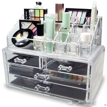 Drawer Built-in acrylic makeup box Cosmetic Storage tool Makeup Transpar... - $38.50