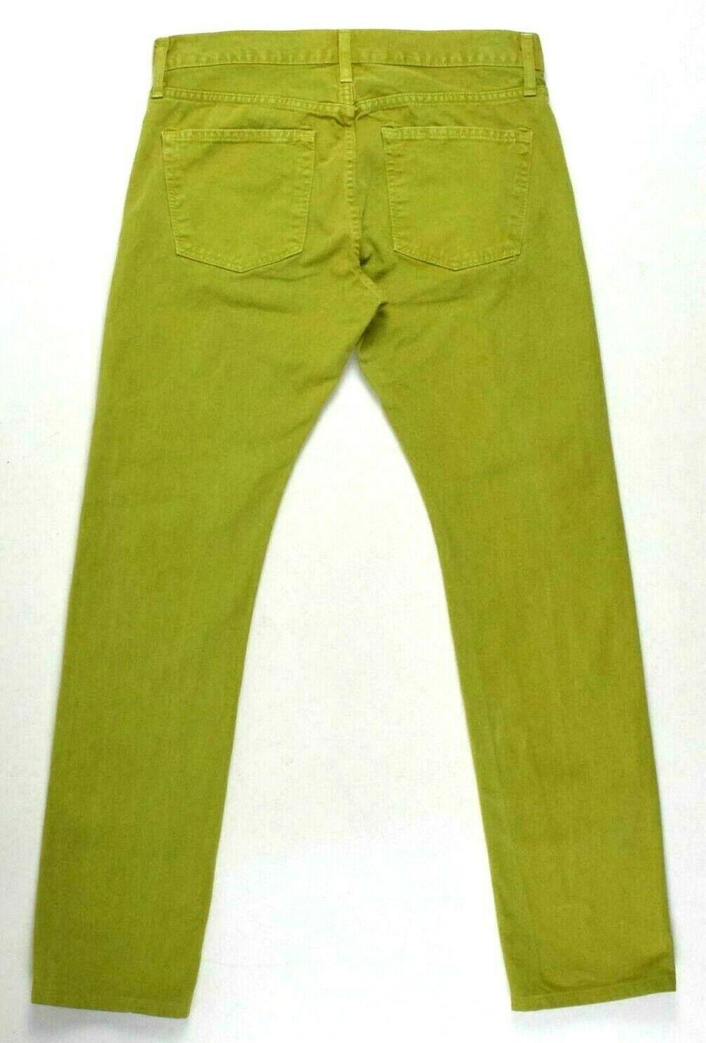 J Brand Green Denim Button Fly Jeans Pants Boot Cut Womens Size 32 x 32.5 image 2