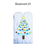 Christmas Bookmark1-Digital Clipart-Background-Party-Holiday-Scrapbook-N... - $2.00