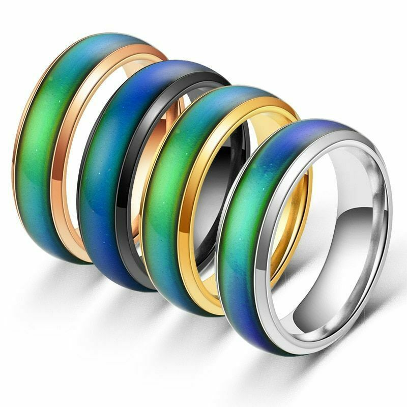 Primary image for Fingers Rings Stainless Changing Color Mood Feeling Emotion Temperature Ring
