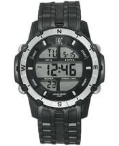 I.N.C. Men's Black Silver Resin Silicone Strap 46mm Digital Sports Watch NIB image 1