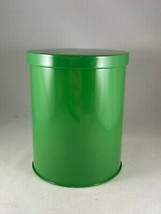 """Vintage Retro Green Metal Tin Kitchen Canister Box  6""""H x 4.5""""D  W. Germany - $14.25"""