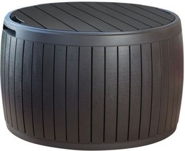 Gallon Natural Wood Storage Table Deck Box Outdoor Patio Shed Circa 37  - $82.26
