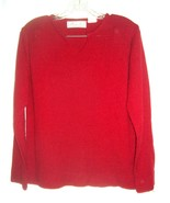 Private Party Berry Red Sweater V-Neck Long Sleeve Sweater Size L - $23.74