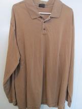 Men's beige long sleeve polo shirt Size XXL by Woolrich  MKARL239lks - $10.58