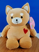 """Squishmallows Valentines Angie The Ginger Shiba Inu 8"""" Squeeze A Mallows... - $34.27"""