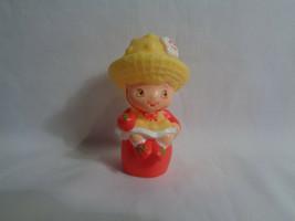 Vintage TCF 1980's Strawberry Shortcake Mini Rubber Lemon Meringue Toy F... - $1.93