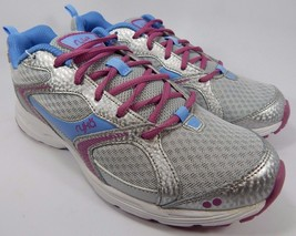 Ryka Streak SMR Women's Running Shoes Size US 9 M (B) EU 40 Silver Pink Blue