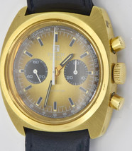 Rare vintage 18k gold plated Tissot Navigator Chronograph wristwatch.Nea... - $2,500.00