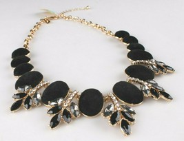I.N.C. Gold-Tone Faux Velvet-Covered Multi-Stone Crystal Statement Necklace 18 image 2