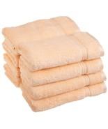 8-pc Peach Superior 600 GSM Long Staple Cotton Hand Towel Set - $42.52