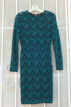 FOREVER 21 ~ Sz M Teal Floral Lace Over Black Lined Dress ~ SHIPS FREE - $24.99