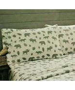 Pillowcases Gray Moose Bears Fox Cabin Lodge Remington Set of 2 - $19.79