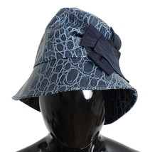 Dolce & Gabbana Blue Calfskin Leather Cloche Hat - $196.30