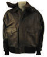 A-2 LEATHER AIR-FORCE FLIGHT BOMBER JACKET FUR COLLAR  - $156.09