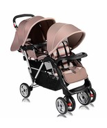 Costzon Double Stroller, Twin Tandem Baby Stroller with Adjustable Backr... - $108.82