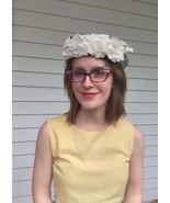 Black White Floral Pillbox Hat 60s Vintage Veil Tea Party - $28.00