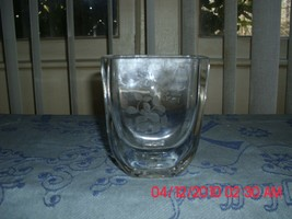 EXCELLENT USED KAPRITOL BOHUSLAN VASE CLEAR WITH FLOWER DESIGN MADE IN S... - $9.79