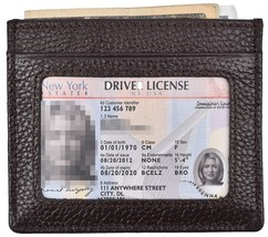 Woogwin Slim Credit Card Holder Wallet RFID Leather Card Case Sleeve ID Window ( - $17.17