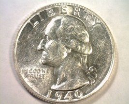 1940-S WASHINGTON QUARTER CLASHED DIE REVERSE CHOICE ABOUT UNCIRCULATED+... - $44.00