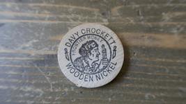 Vintage Alamo Davy Crockett Wooden Nickel 3.8cm - $7.91