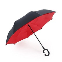 AWEOODS Umbrella Red 1 Inverted Umbrella Windproof Reversible Umbrella, ... - $24.70