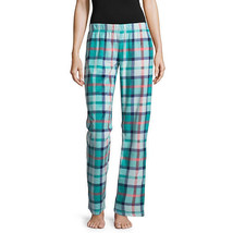 NWT Womens Blue Green/ Pink Fleece Sleep lounge Pants Plaid Pajama Botto... - $14.10