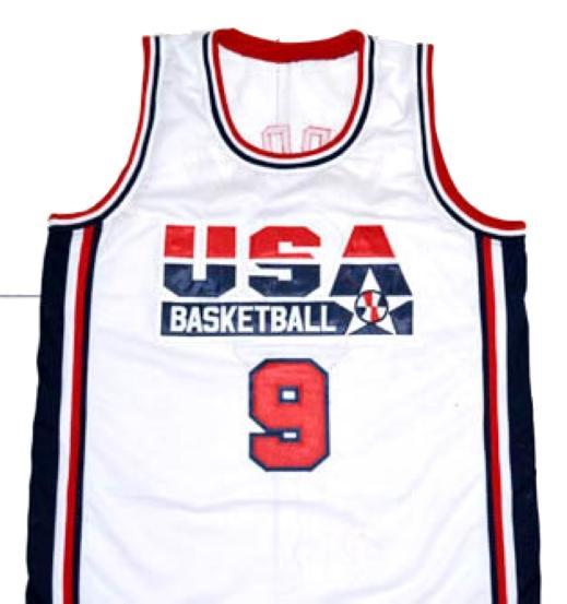 Michael Jordan #9 Team USA Basketball Jersey White Any Size