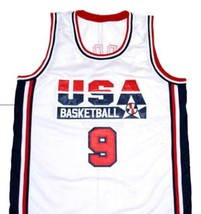 Michael Jordan #9 Team USA Basketball Jersey White Any Size image 1