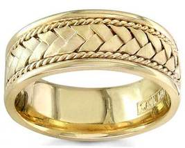 Men's 14K Yellow Gold 8mm Braided Rope Wedding Band - $609.99+