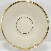 "Lenox Eternal Saucer 6"" Cream Gold Trim Factory 2nd Quality - $6.93"