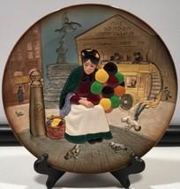 "Royal Doulton The Old Balloon Seller Collectors Plate, D6649, England, 9-7/8"" - $44.50"