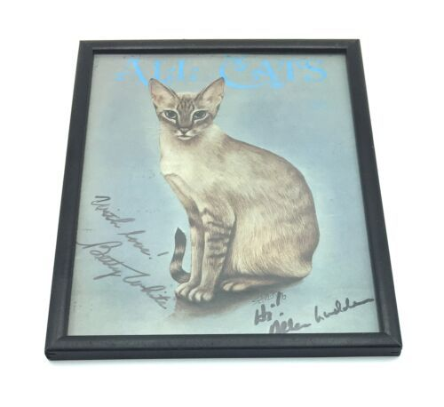 "Framed Signed Original Betty White Autograph All Cats Print 9x12"" Golden Girls"