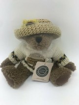 Boyds Bears Plush, Huney B. Keeper, Preowned -- sweater and straw hat - $12.85