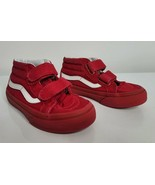 VANS Off the Wall Size 10.5 Kids Red Athletic Skateboard Shoes YOUTH  - $14.99
