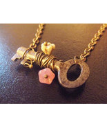 Secret Garden Small Skeleton Key Necklace Real Skeleton Key Necklace Gla... - $126.00+
