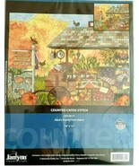 """Buck's Country Farm Stand Counted Cross Stitch Kit 017-0111 16""""x12"""" Seal... - $39.17"""