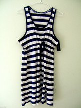 NWT Tommy Hilfiger Navy Blue White Rugby Sleepwear Nightie Swim Cover Dr... - $21.60