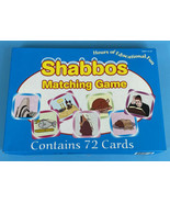 Shabbos Matching Game Judaica Holy Day 72 Cards Pictures Learning Jewish  - $18.88