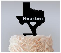 Wedding,Birthday Cake topper,Cupcake topper,silhouette i love houston : 11 pcs - $20.00