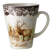 An item in the Pottery & Glass category:  Spode Woodland Elk Wildlife Mug