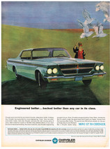 Vintage 1964 Magazine Ad Chrysler Engineered Better Backed Better Than A... - $5.93
