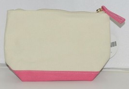 Viv and Lou M715VLHTPK Pink Sullivan Collection Canvas Cosmetic Bag image 2