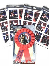 Captain America 96 Sticker and Guest of Honor Ribbon Pin Birthday Party ... - $8.54